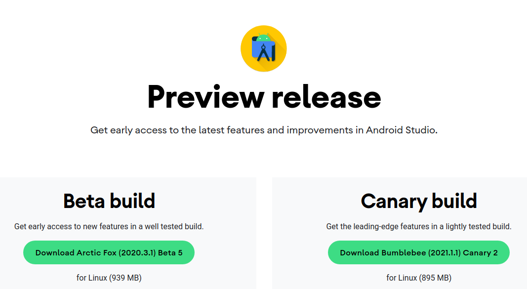 Android Studio Preview Beta